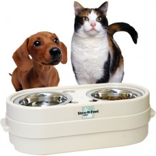 Our Pets Store-N-Feed جهاز تغذية قابل للتعديل صغير